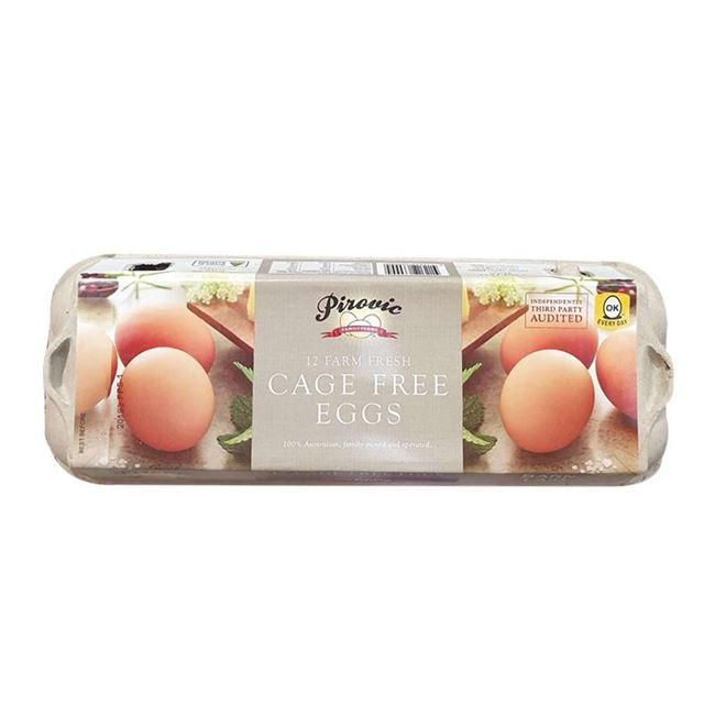 Picture of PIROVIC FRESH EGGS CAGE FREE 660G(12PK)