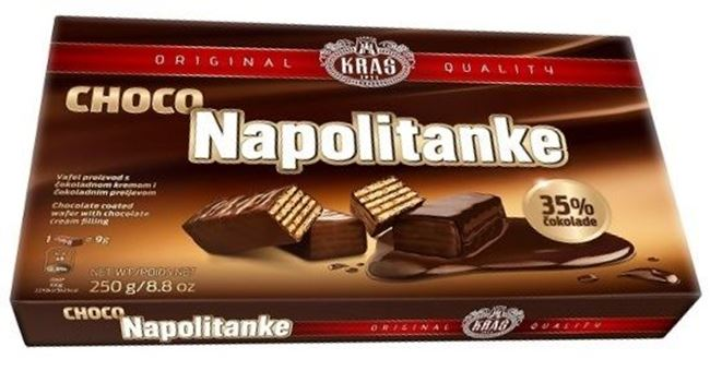 Picture of KRAS NAPOLITANKE WAFER 500G CHOCOLATE COATED