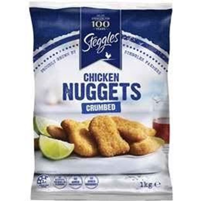 Picture of STEGGLES CHICKEN NUGGETS 1KG CRUMBED